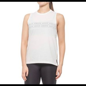 About Under Armour Onyx White Sport  Muscle Tank